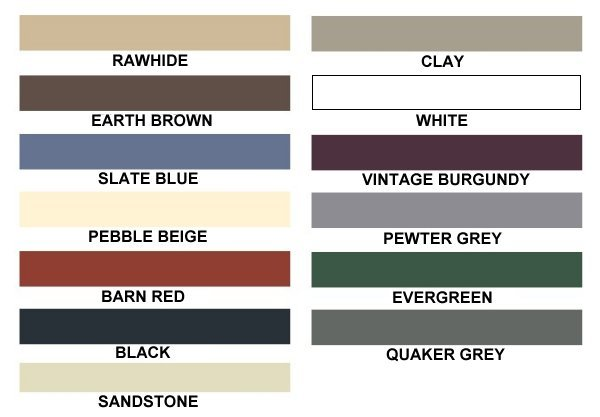Carports America - Color Selections