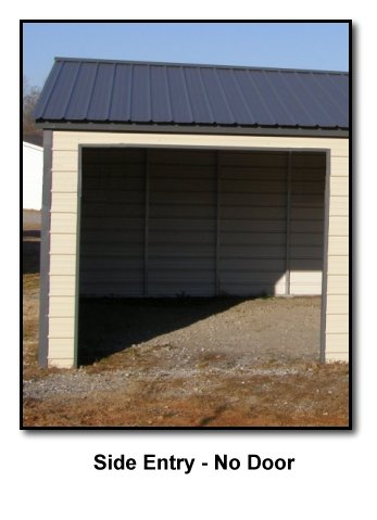 Carports america a frame boxed eave style garages for Garage side door and frame